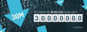 Layar 30 Million Downloads